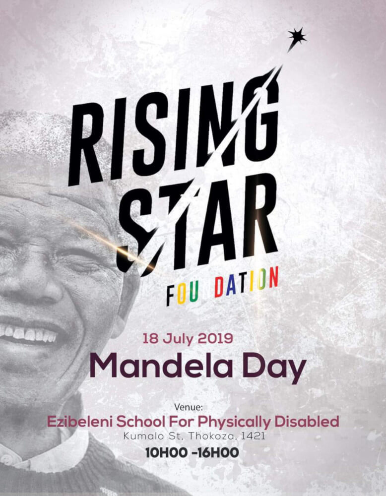Rising Star Foundation Mandela Day | Thursday, 18 July 2019